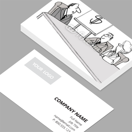 Vice president of sales business cards standard horizontal vice president of sales business cards cartoon of businessman presenting one page plan making colourmoves