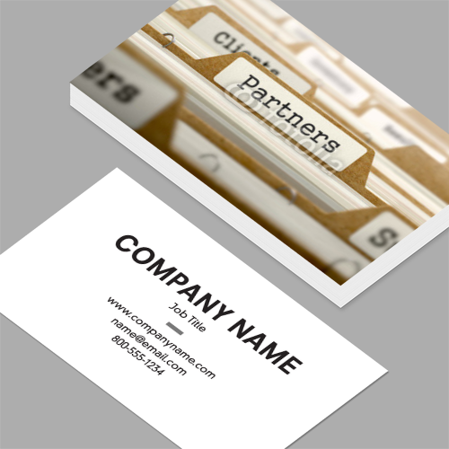 Co owner business cards standard horizontal customizable co owner business cards partners concept with word on folder standard horizontal business colourmoves