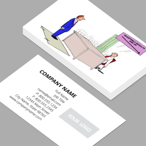 Vice president of sales business cards standard horizontal vice president of sales business cards cartoon of business sign that says quarterly results are colourmoves
